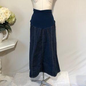 Motherhood Maternity Jean Skirt